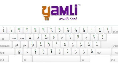Clavier arabe yamli ecrire en Arabe avec l'alphabet latine